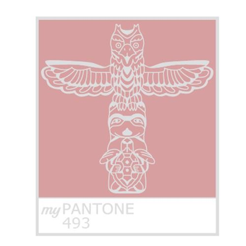 Pathtags who have you crossed paths with the new and exciting the front of my pantone tag features a beautifully designed totem pole pms 493 while the backside features the newest addition to my family blue malvernweather Choice Image